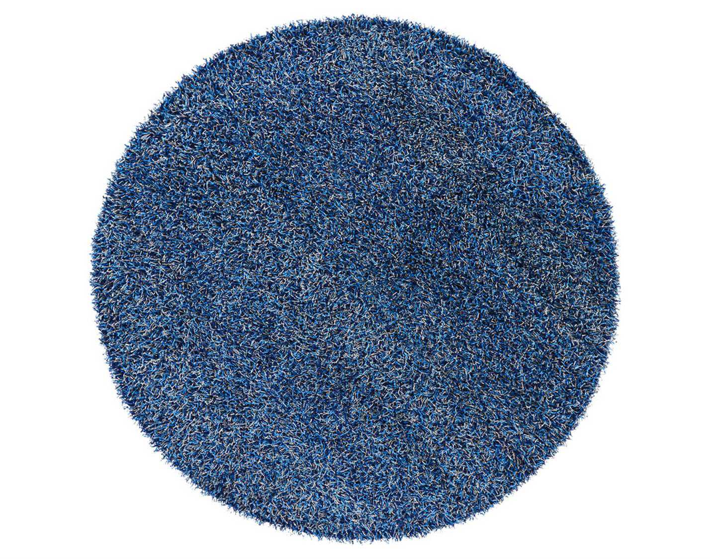 Chandra Zara Round Blue Area Rug