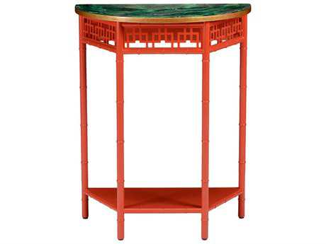 Chelsea House Red Chinese Red Pedestal Table