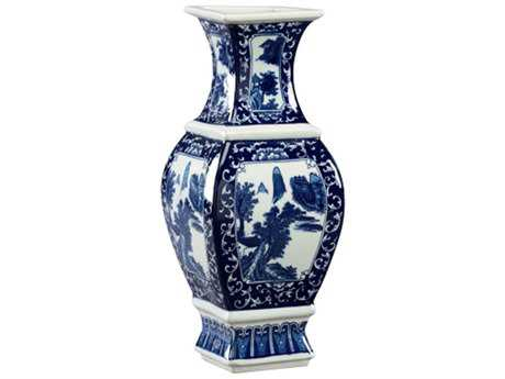 Chelsea House Qin Blue And White Porcelain Vase
