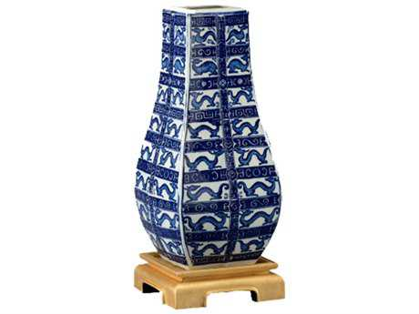 Chelsea House Dragon Blue and White Vase