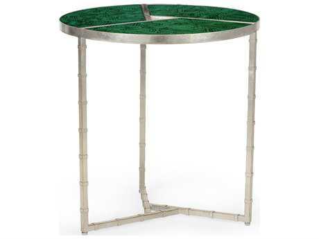 Chelsea House Bradshaw Lapis Antique Silver End Table