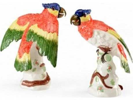 Chelsea House Flying Parrots Set of Two Sculpture