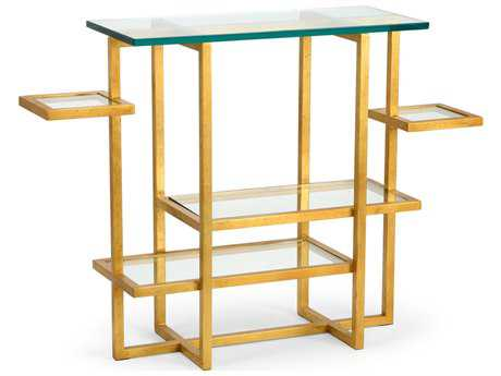 Chelsea House Tiered Console Gold Console Table