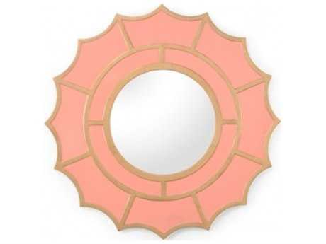 Chelsea House Devonshire 40 x 40 Coral Wall Mirror