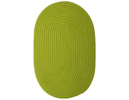 Colonial Mills Boca Raton Modern Green Braided Synthetic Solid Oval 2' x 3' Area Rug - BR65R024X036