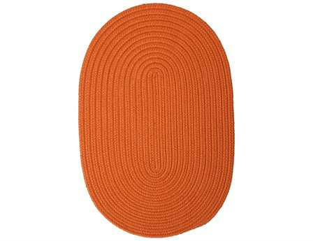 Colonial Mills Boca Raton Modern Orange Braided Synthetic Solid Oval 2' x 3' Area Rug - BR74R024X036