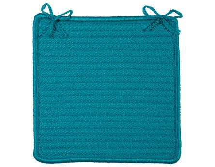 Colonial Mills Rope Walk Turquoise Chair Pad (Set of 4)