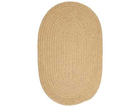 Colonial Mills Softex Modern Yellow Braided Synthetic Solid Oval 2' x 3' Area Rug - CX13R024X036