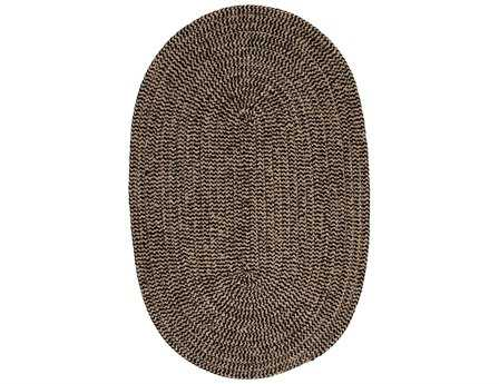 Colonial Mills Softex Modern Black Braided Synthetic Solid Oval 2' x 3' Area Rug - CX14R024X036