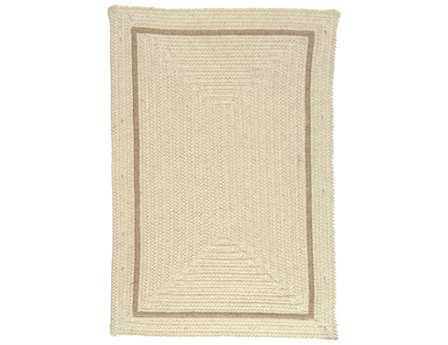 Colonial Mills Shear Natural Modern Beige Braided Wool Bordered 2' x 3' Area Rug - EN30R024X036R