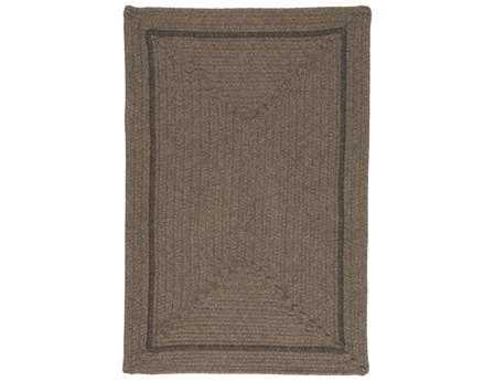 Colonial Mills Shear Natural Modern Brown Braided Wool Bordered 2' x 3' Area Rug - EN34R024X036R