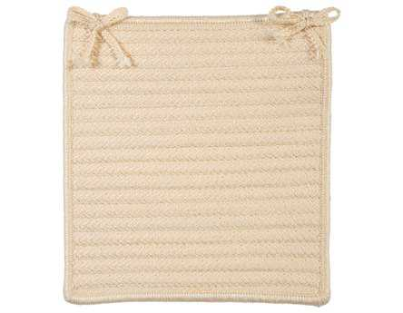 Colonial Mills Simply Home Solid Cream Chair Pad (Set of 4)