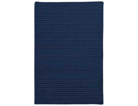 Colonial Mills Simply Home Solid Modern Blue Braided Synthetic Solid 2' x 3' Area Rug - H074R024X036S