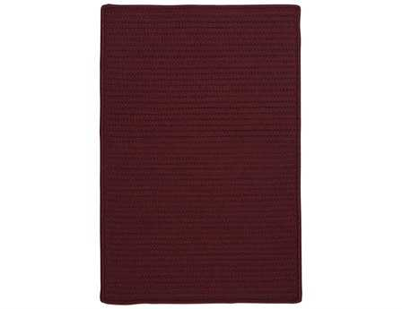 Colonial Mills Simply Home Solid Modern Red Braided Synthetic Solid 2' x 3' Area Rug - H116R024X036S