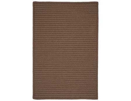 Colonial Mills Simply Home Solid Modern Brown Braided Synthetic Solid 2' x 3' Area Rug - H286R024X036S