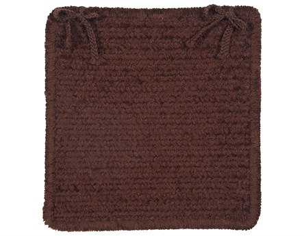 Colonial Mills Simple Chenille Chocolate Chair Pad (Set of 4)