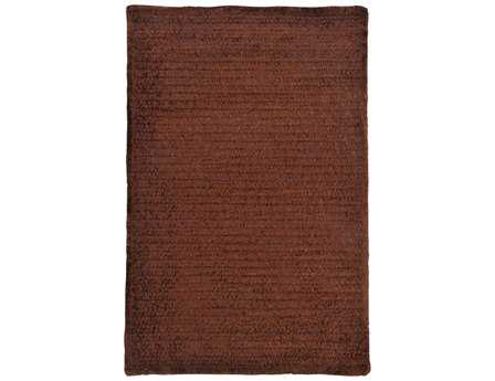 Colonial Mills Simple Chenille Modern Brown Braided Synthetic Solid 2' x 3' Area Rug - M402R024X036S