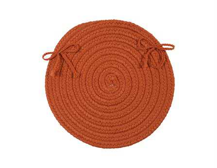 Colonial Mills Crescent Orange Chair Pad (Set of 4)