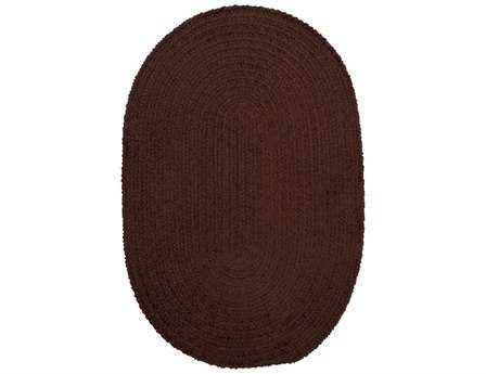 Colonial Mills Spring Meadow Modern Brown Braided Synthetic Solid Oval 2' x 3' Area Rug - S402R024X036