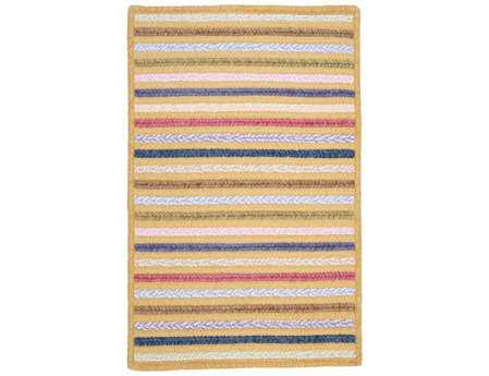 Colonial Mills Seascape Modern Yellow Braided Cotton Stripes 2' x 3' Area Rug - SE30R024X036S