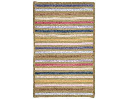 Colonial Mills Seascape Modern Green Braided Cotton Stripes 2' x 3' Area Rug - SE60R024X036S