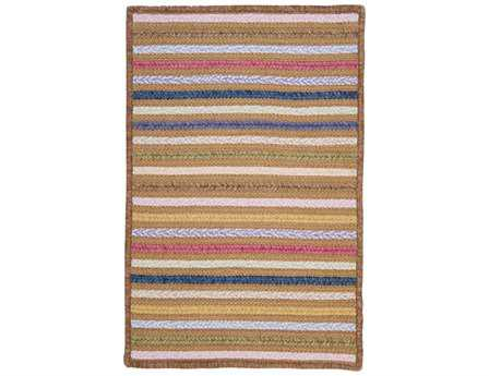 Colonial Mills Seascape Modern Brown Braided Cotton Stripes 2' x 3' Area Rug - SE80R024X036S