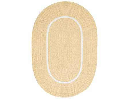 Colonial Mills Silhouette Modern Yellow Braided Synthetic Solid Oval 2' x 3' Area Rug - SL35R024X036