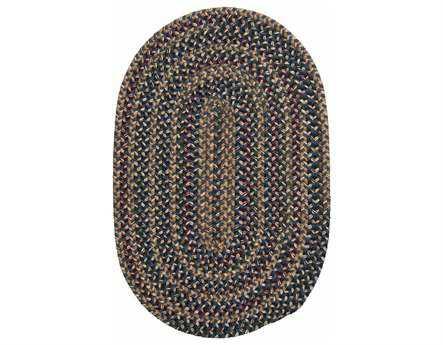 Colonial Mills Twilight Modern Blue Braided Wool Stripes Oval 2' x 3' Area Rug - TL50R024X036