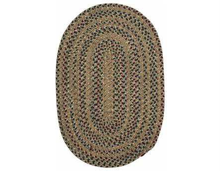 Colonial Mills Twilight Modern Green Braided Wool Stripes Oval 2' x 3' Area Rug - TL60R024X036