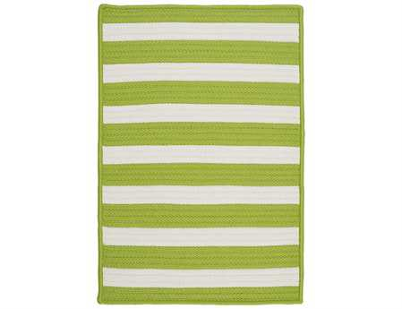 Colonial Mills Stripe It Modern Green Braided Synthetic Stripes 2' x 3' Area Rug - TR29R024X036S