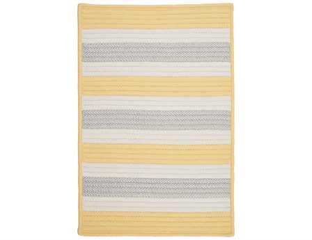 Colonial Mills Stripe It Modern Yellow Braided Synthetic Stripes 2' x 3' Area Rug - TR39R024X036S
