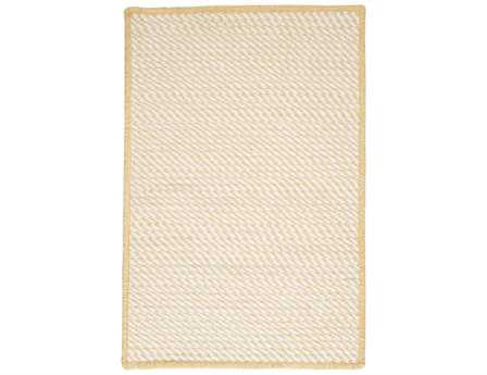 Colonial Mills Twisted Modern Yellow Braided Synthetic Solid 2' x 3' Area Rug - TW39R024X036S