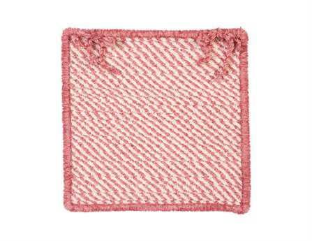 Colonial Mills Twisted Pinkest Pink Chair Pad (Set of 4)