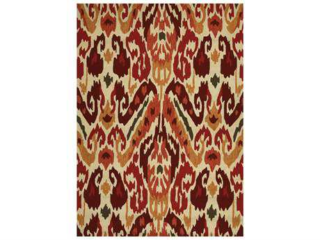 Couristan Covington Transitional Red Hand Made Synthetic Southwestern 2' x 4' Area Rug - 22630701020040T