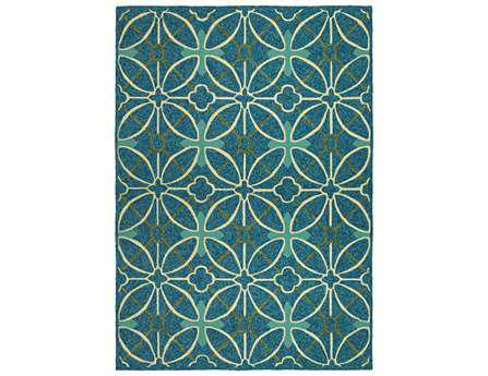 Couristan Fresco Transitional Blue Hand Made Synthetic Moroccan 2' x 4' Area Rug - 22665000020040T