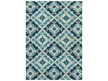 Couristan Beachfront Transitional Blue Hand Made Synthetic Floral/Botanical 2' x 4' Area Rug - 27242000020040T