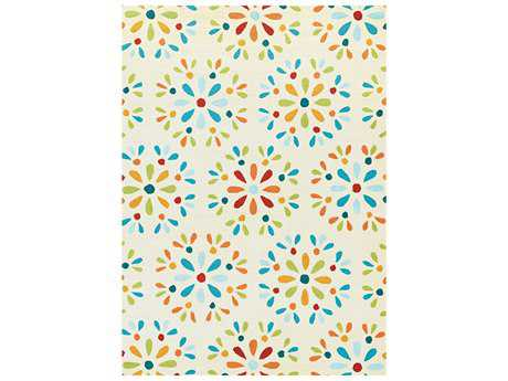 Couristan Beachfront Transitional Hand Made Synthetic Floral/Botanical 2' x 4' Area Rug - 28628621020040T