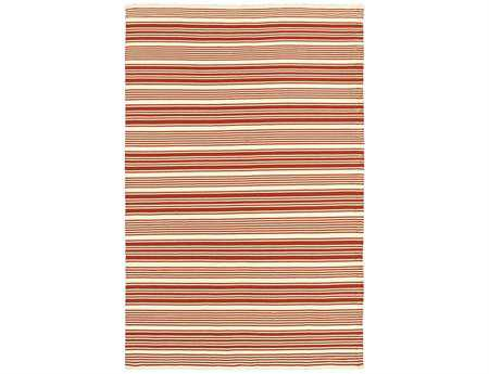 Couristan Grand Cayman Modern Orange Hand Made Synthetic Stripes 2' x 3' Area Rug - 51850055020030T