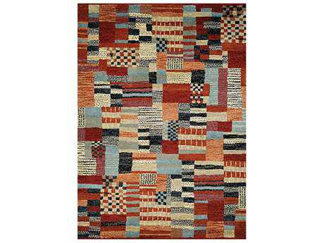 Couristan Solace Transitional Red Machine Made Synthetic Abstract 2' x 3'7'' Area Rug - 64830537020037T