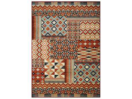 Couristan Solace Transitional Red Machine Made Synthetic Geometric 2' x 3'7'' Area Rug - 64840375020037T