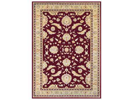 Couristan Cadence Traditional Red Machine Made Synthetic Floral/Botanical 2' x 3'11 Area Rug - 65240390020311T