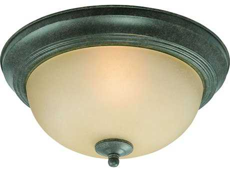 Craftmade Jeremiah Flushmount Light in English Toffee with Light Umber Etched Glass