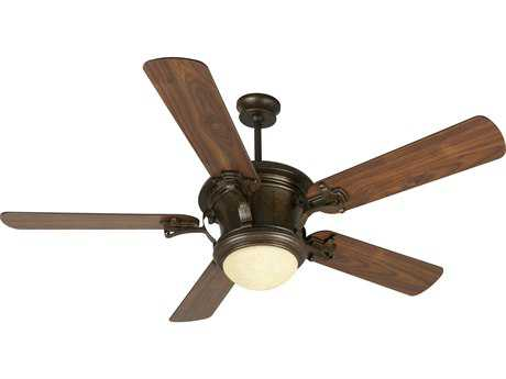 Craftmade Amphora Peruvian Bronze 52 Inch Wide Ceiling Fan with Walnut Blades and Antique Scavo Light Kit