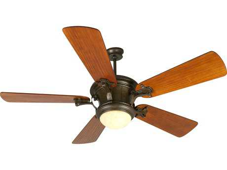 Craftmade Amphora Peruvian Bronze 54 Inch Wide Ceiling Fan with Hand-Scraped Cherry Blades and Antique Scavo Light Kit