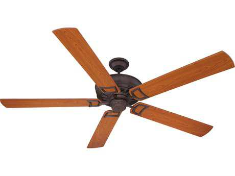 Craftmade Rutgers Oiled Bronze Gilded 72 Inch Wide Ceiling Fan with Walnut Blades