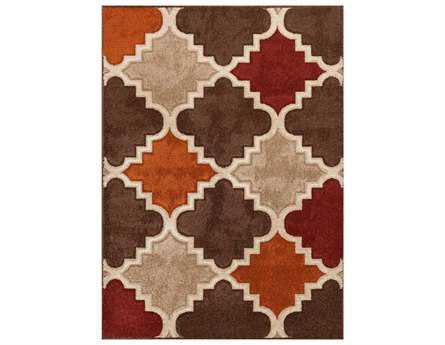Central Oriental Alpha Modern Brown Machine Made Synthetic Moroccan 2' x 7'7 Area Rug - 1705.91.14