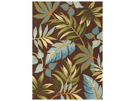 Central Oriental Sanibel Transitional Brown Machine Made Synthetic Floral/Botanical 5' x 7' Area Rug - 5717.51.57