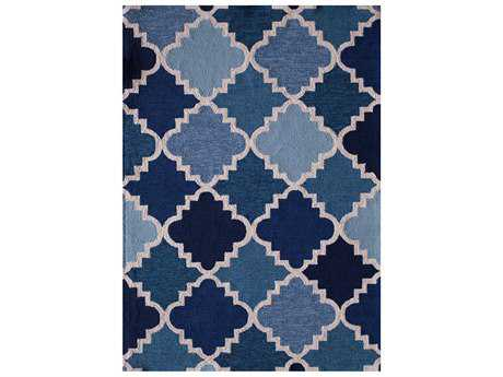Central Oriental Sanibel Modern Blue Machine Made Synthetic Moroccan 5' x 7' Area Rug - 5719.41.57