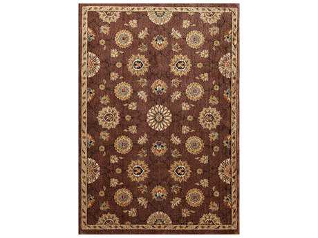 Central Oriental Soprano Vienna Traditional Brown Machine Made Synthetic Floral/Botanical 5'3 x 7'7 Area Rug - 6610CU69C.080