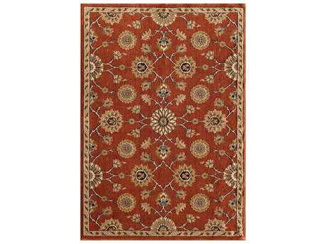 Central Oriental Soprano Vienna Transitional Red Machine Made Synthetic Floral/Botanical 5'3 x 7'7 Area Rug - 6610CY69C.080